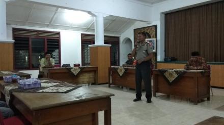 PEMBINAAN KEAMANAN DAN KETERTIBAN MASYARAKAT DESA SUMBERAGUNG TAHUN 2019